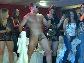 Party girls love grabbing cock